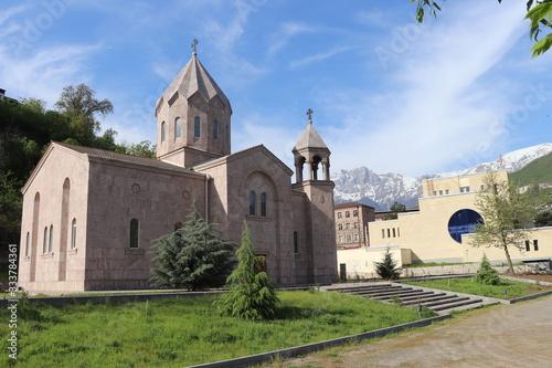 The armenian apostolic church in the city of Kapan in Armenia Canvas Print