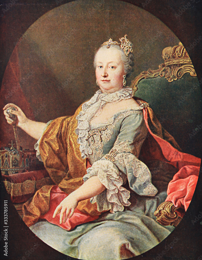 Archduchess Maria Theresa of Austria (1717 - 1780), Holy Roman Empress consort, portrait by Martin van Meytens