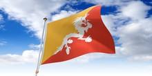 Bhutan - Waving Flag - 3D Illu...