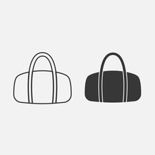 Ladies Hand Bag Vector Icon Fa...