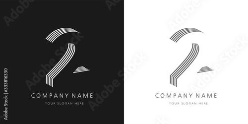 2 logo number modern design Tapéta, Fotótapéta