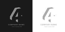 4 Logo Number Modern Design