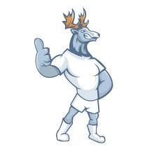 Deer Mascot Design With Modern...