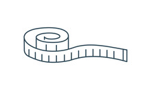 Measuring Tape Thin Line Icon Measurement And Vector Image