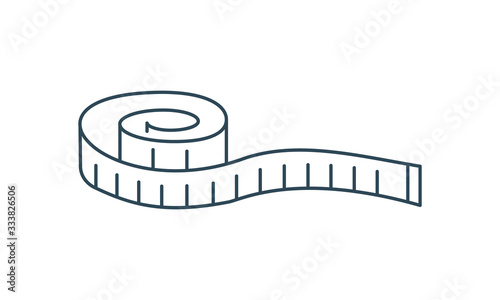 Obraz Measuring tape thin line icon measurement and vector image - fototapety do salonu
