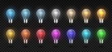 Light Bulb. Realistic Glowing ...