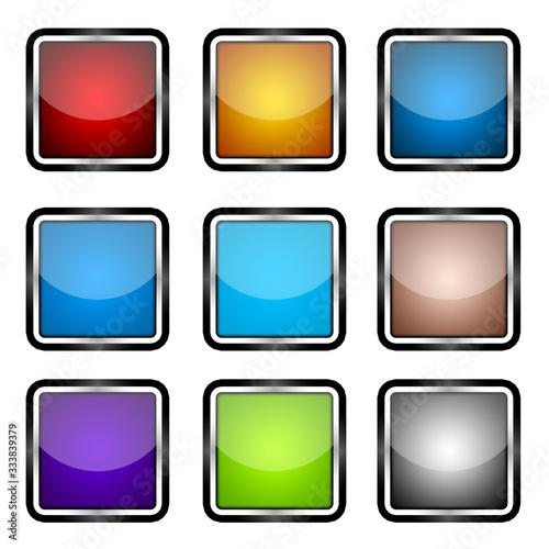 App Button ux ui Canvas Print