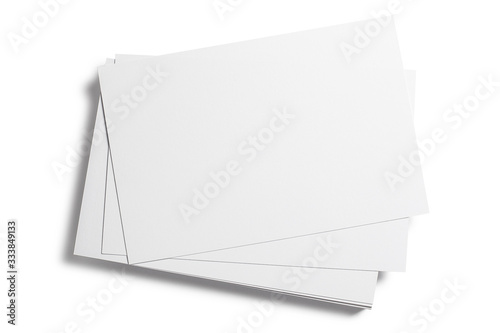 Blank cards, tickets or flyers, isolated on white background Tapéta, Fotótapéta
