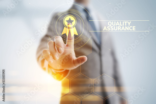 Quality assurance, Guarantee, Standards, ISO certification and standardization concept Canvas Print