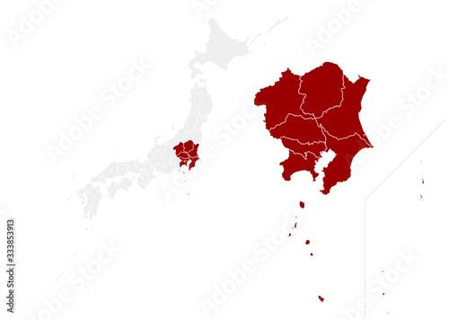 【関東地方】 日本 Canvas