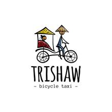 Rickshaw, Asian Taxi. Sketch F...