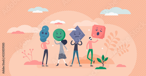Emotion types vector illustration Wallpaper Mural