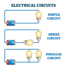 Electrical Circuits Vector Ill...