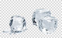 Melting Crystal Clear Ice Cube...