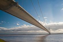 Large Suspension Bridge Over A...