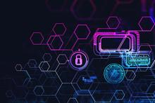Glowing Futuristic Cyber Secur...