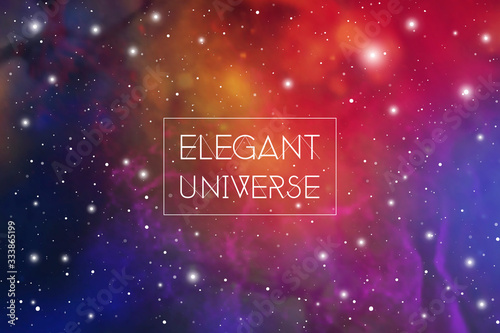 Elegant universe scientific outer space wallpaper with copy space Canvas Print
