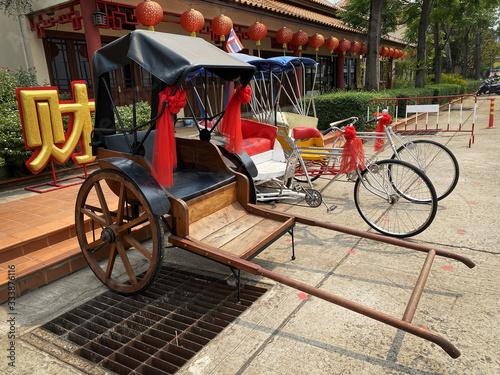 Rikscha China Billede på lærred