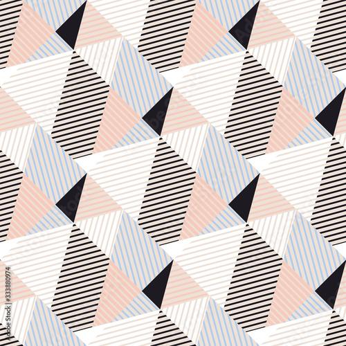 Tapeta do przedpokoju  abstract-triangle-geometry-stripes-seamless-pattern