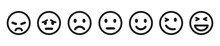 Set Of Emoticons Buttons. Emoj...