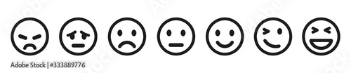 Photographie Set of emoticons buttons