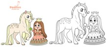 Cute Cartoon Princess Feed A H...