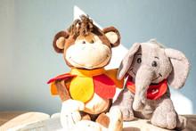 Stuffed Toys Elephant And Monk...