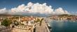 Beautiful panorama of Trogir old town in Croatia