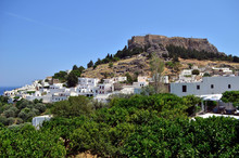 Lindos Old Castle And Town