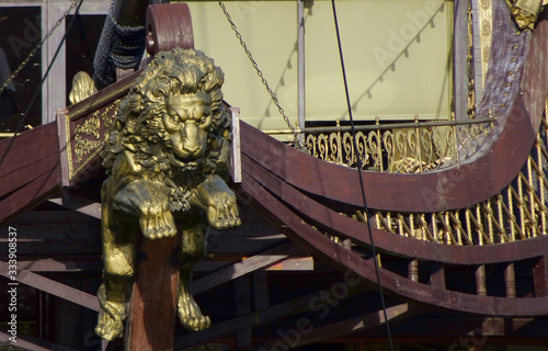 figurehead of a lion in a  ship Canvas