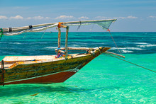 Colorful African Wooden Boat I...