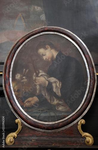 Saint Francis Borgia, altarpiece in the Church of Saint Catherine of Alexandria Poster Mural XXL