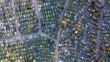 Large Cemetery With Grid Layou...