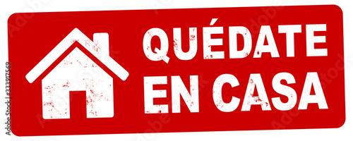 nlsb1440 NewLongStampBanner nlsb - banner de la casa - etiqueta española - firme Wallpaper Mural