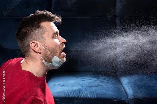 man is coughing Wallpaper Mural