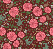 Seamless Pattern With Roses, D...