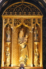 Our Lady Of Remete, Statue On The Main Altar At The Church Of The Assumption Of The Virgin Mary In Remete, Zagreb, Croatia