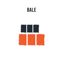 Bale Vector Icon On White Back...