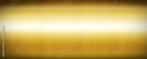 Fotomural Gold brushed metal. Banner background texture