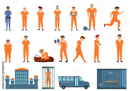 Photo Prison icons set