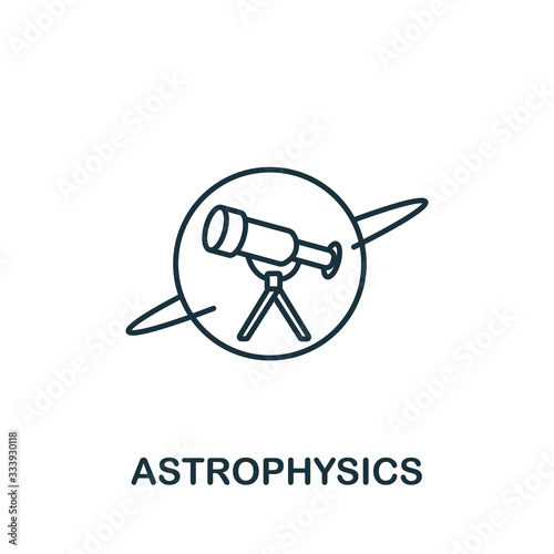 Astrophysics icon from science collection Canvas Print