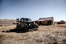 Old Car In California With Blu...