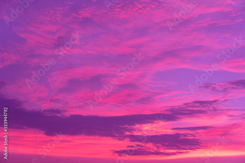red purple cloudy dramatic natural sky background - 333944792