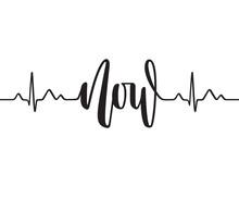 Cardiogram Line Forming Word N...