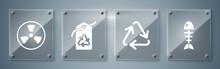 Set Fish Skeleton, Recycle Sym...