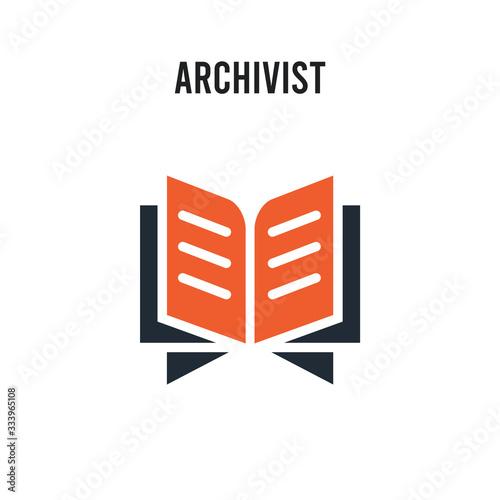 Photo Archivist vector icon on white background