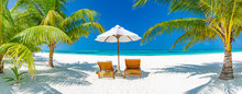 Tropical Beach Background As S...