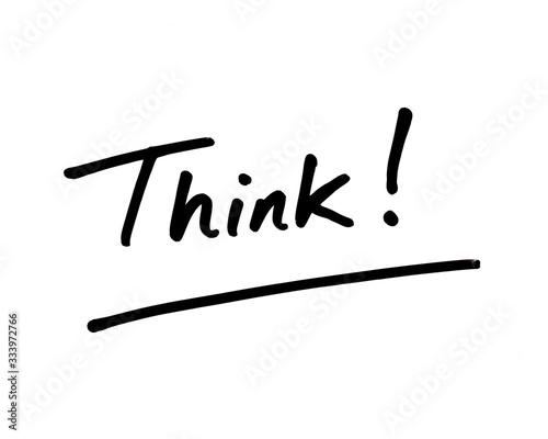 Think! Canvas Print