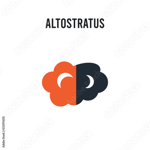altostratus vector icon on white background Wallpaper Mural