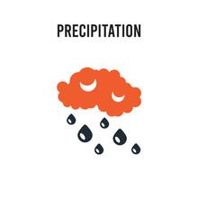 Precipitation Vector Icon On W...